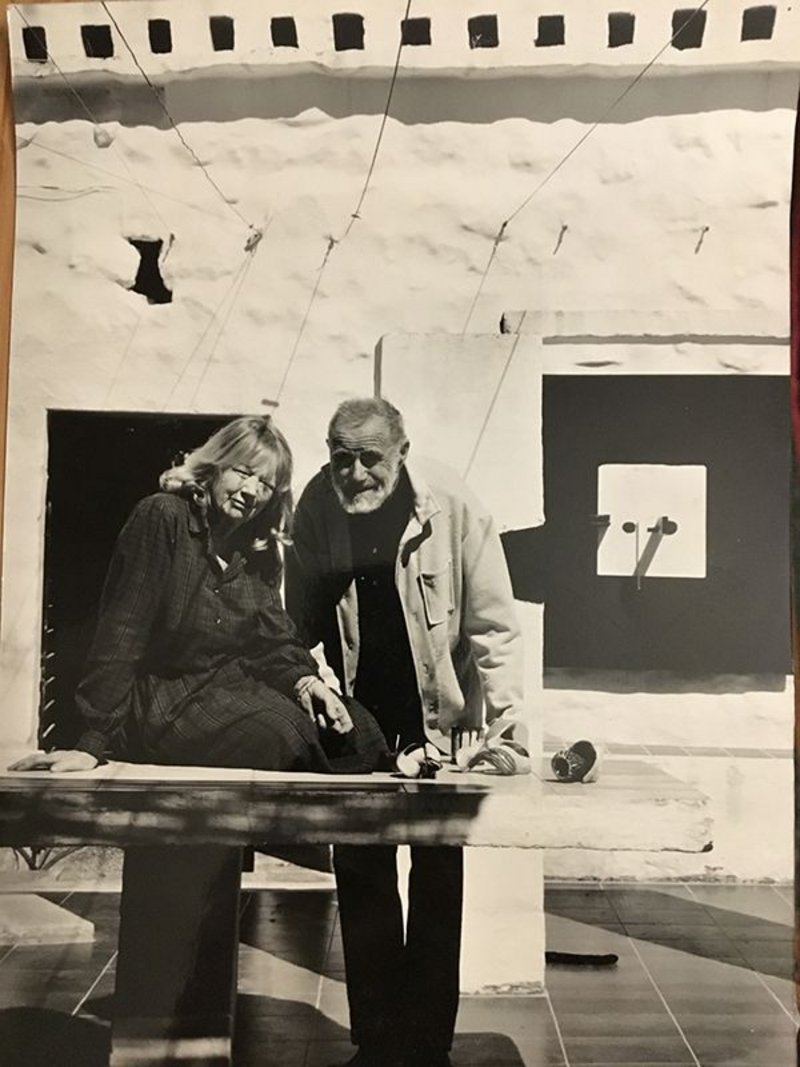 Victor and Wendy Pasmore at Dar Gamri.