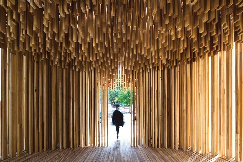 Sclera pavilion, designed by Adjaye Associates for the 2008 London Design Festival.