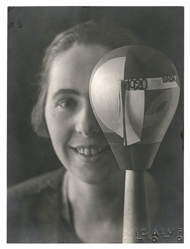 Sophie Taeuber-Arp with her Dada Head, 1920. Stiftung Arp e.V., Berlin