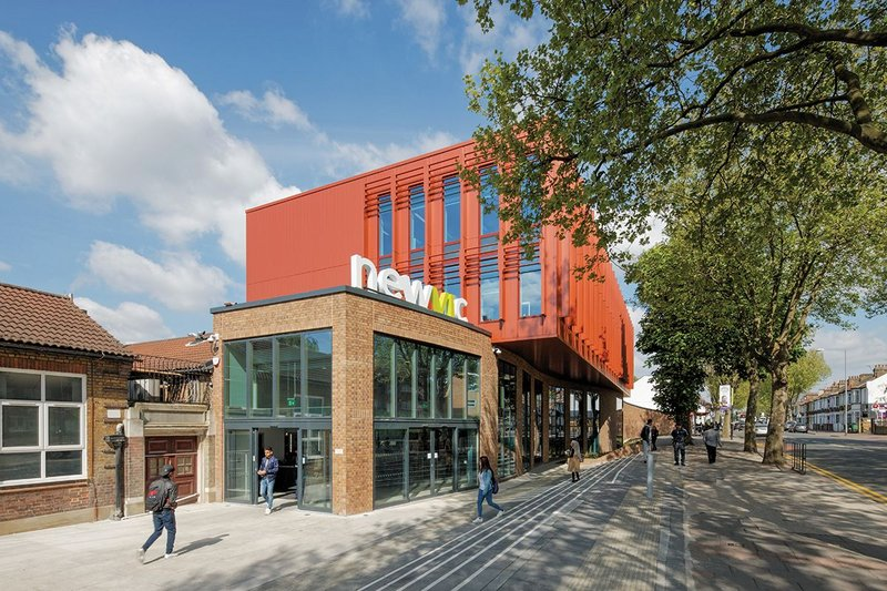 Newham Sixth Form College: School turned college campus, which is now going through gradual redevelopment.