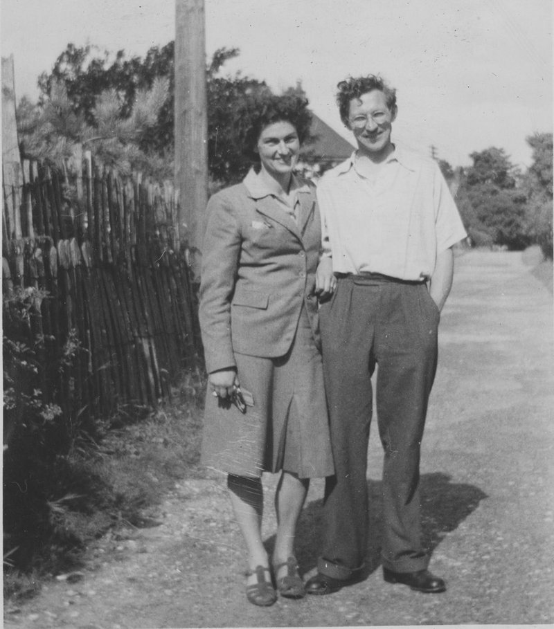 The MacEwens, recently married, in 1947.