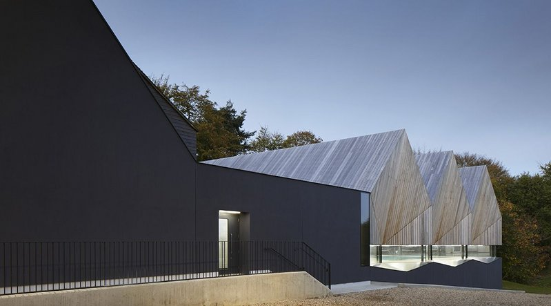 Alfriston School swimming pool, Buckinghamshire – Duggan Morris Architects. Click on the image