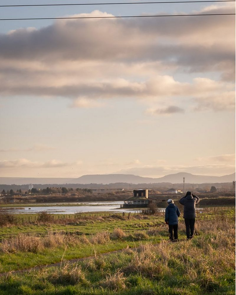 Saltholme Pools bird hide, refurbished and extended by Child Graddon Lewis. The hide provides improved facilities for twitchers and other visitors at RSPB Saltholme, a wetlands at Stockton-on-Tees, Middlesbrough.