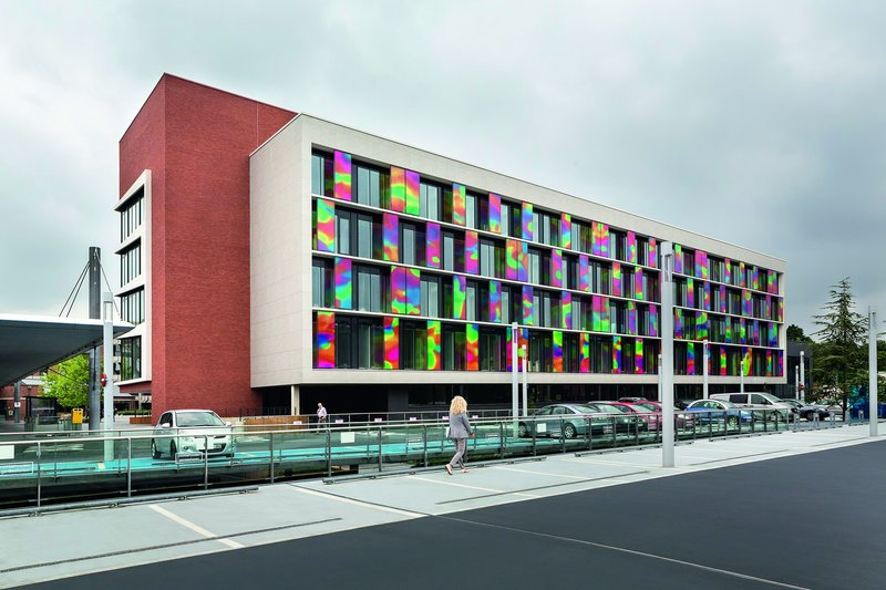 Ventilated façade of the ZOL hospital in Genk, Belgium.