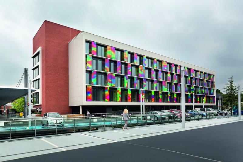Ventilated façade of the ZOL hospital in Genk, Belgium.