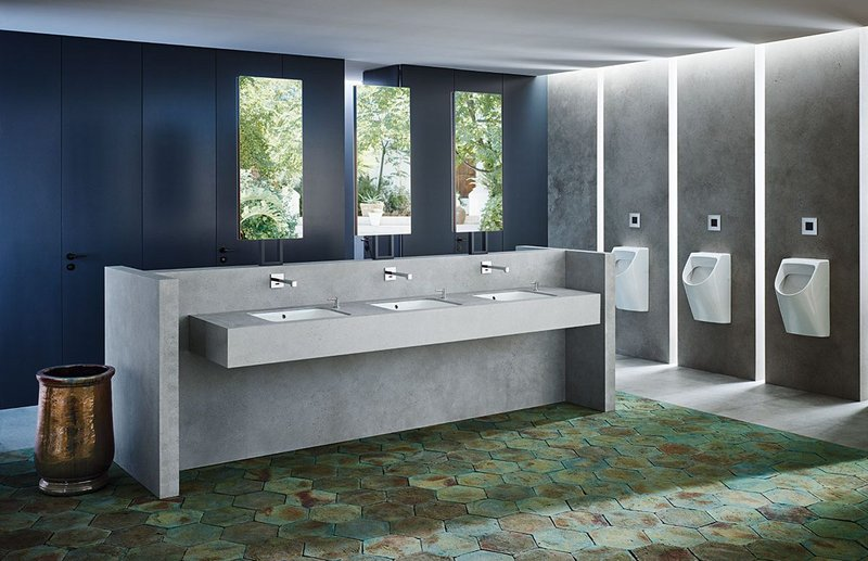 Bathroom manufacturer Geberit offers a range of office washroom solutions for improved hygiene, easy cleaning and reduced maintenance.