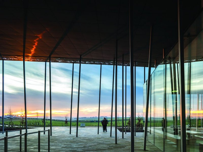 You can't see the Stones from here, but the new centre has commanding views of the landscape.