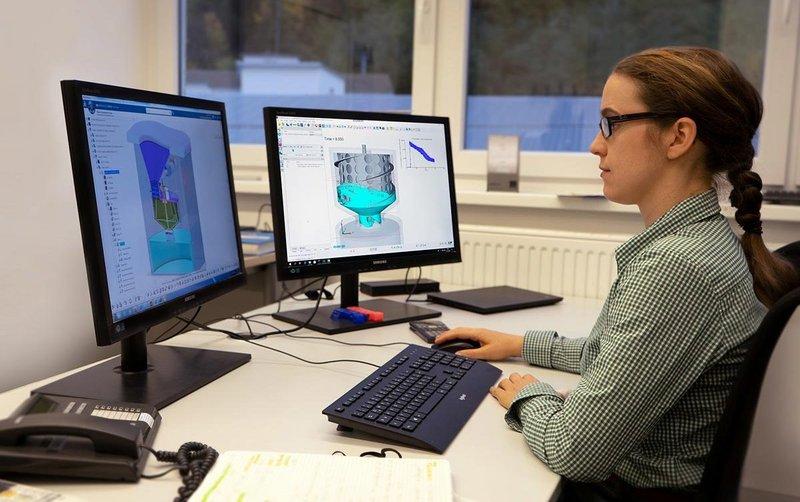 Development engineer Franziska Wülker's day job is designing toilet flushing performance for bathroom manufacturer Duravit.