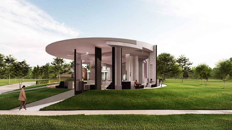 Serpentine Pavilion 2021 designed by Counterspace (render).