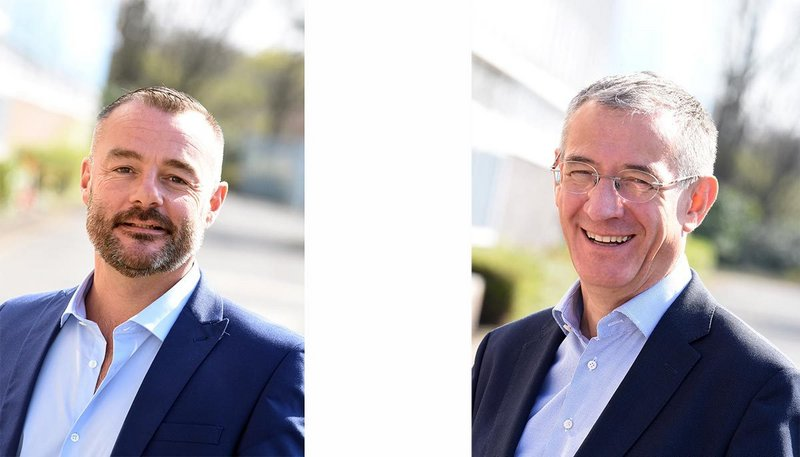 Left: Graham Taylor, Zentia sales and marketing director. Right: Christophe Lloret Linares, Zentia chief executive officer.