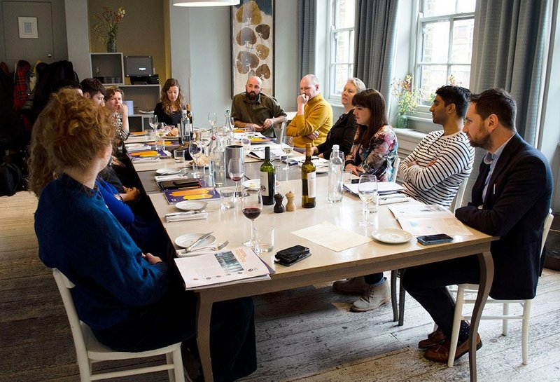 This year's roundtable with the 2019 Rising Stars cohort was held at The Modern Pantry in London and chaired by RIBA Journal's Eleanor Young.