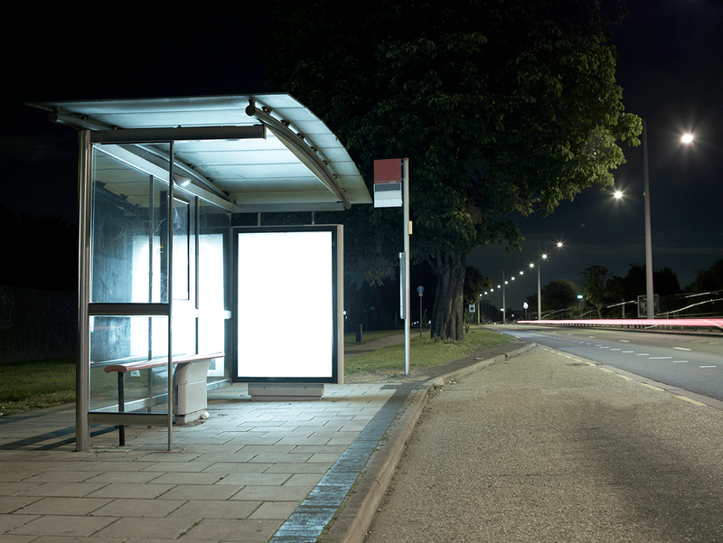 How do we see the gestural high-tech-ish style that livened so many bus shelters?
