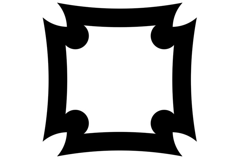 Finhankra; an Adrinka symbol of the House/Compound meaning security.
