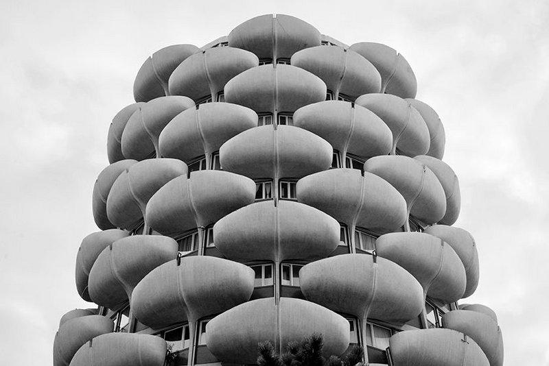 Les Choux de Créteil apartment blocks, designed by Gérard Grandval, 1966-74.