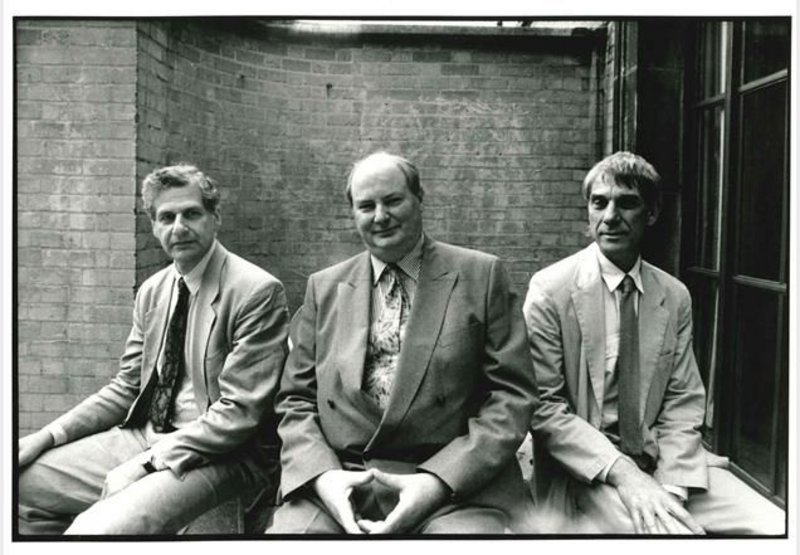 ABK in 1991: Richard Burton with Paul Koralek, left, and Peter Ahrends, right.