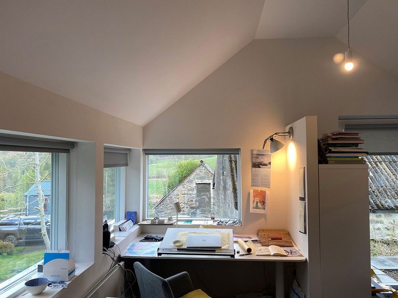 Mary Arnold-Forster lets us into her workspace in rural Perthshire.
