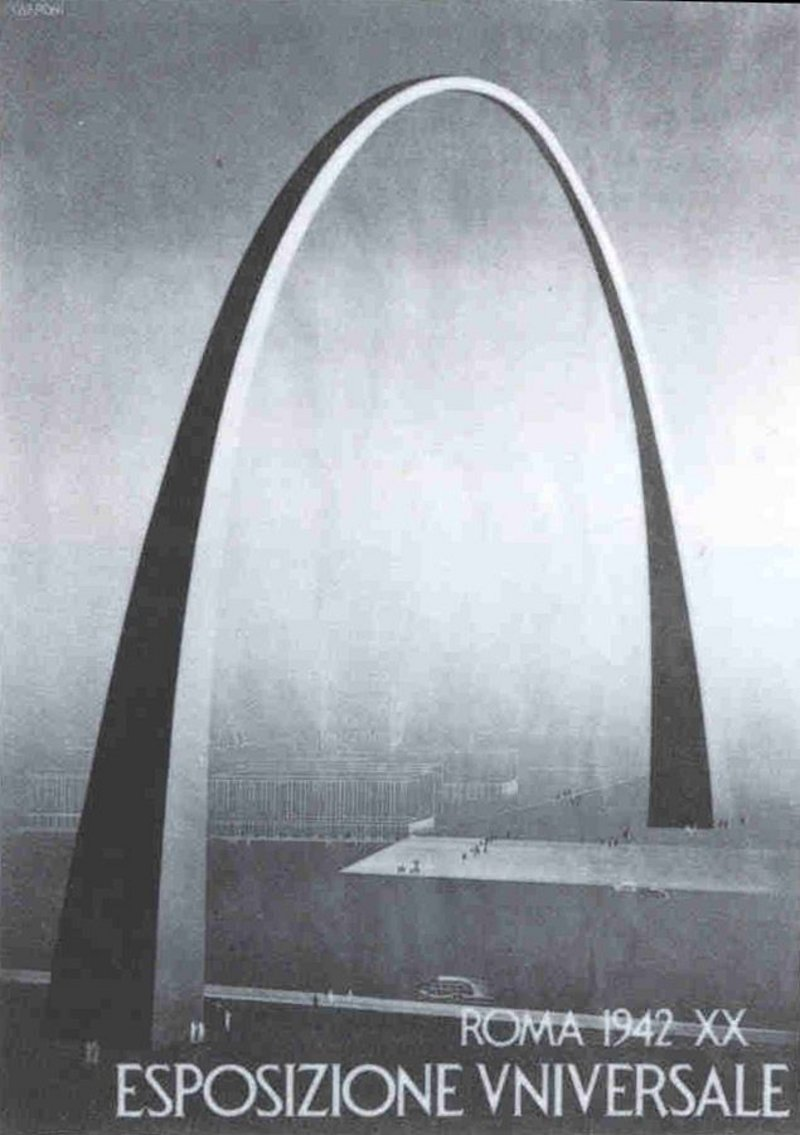 Arco Imperiale, EUR, final project, Adalberto Libera, 1940-43