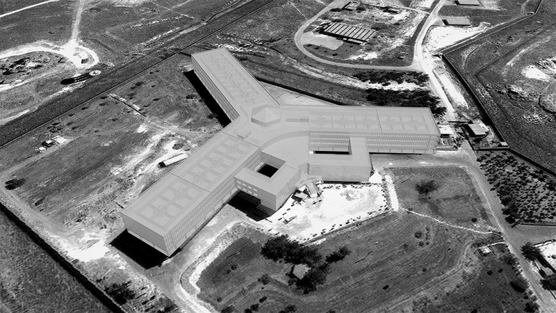 Saydnaya prison, Saydnaya, Syria, 2011, as reconstructed by Forensic Architecture using architectural and acoustic modelling. From the Torture in Saydnaya Prison investigation commissioned by Amnesty International.