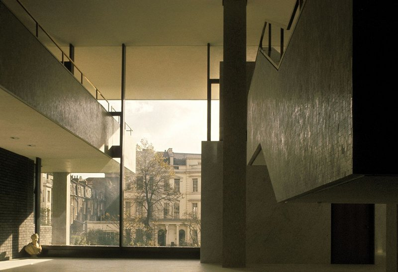Denys Lasdun's Royal College of Physicians (1960) framing Nash's Regent's Park terraces beyond