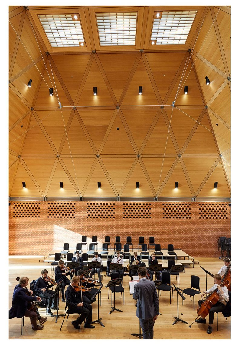 High notes: the triple-height volume results from acoustic requirements.