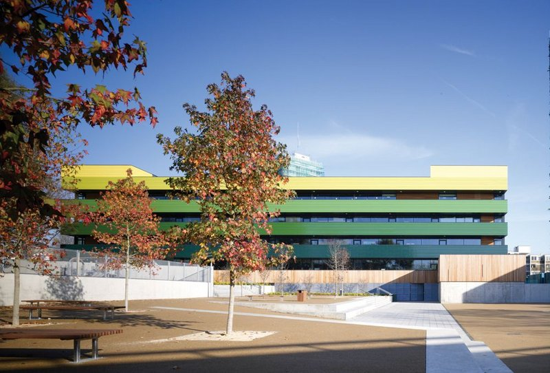 Clear and bold, with a healthy blast of  colour: Westminster Academy (2007), Stirling Prize shortlisted.