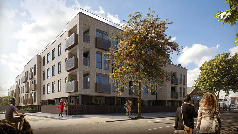 Galliard Homes' Church Road development is made up of 38, one, two and three-bedroom apartments and two three-bedroom houses.