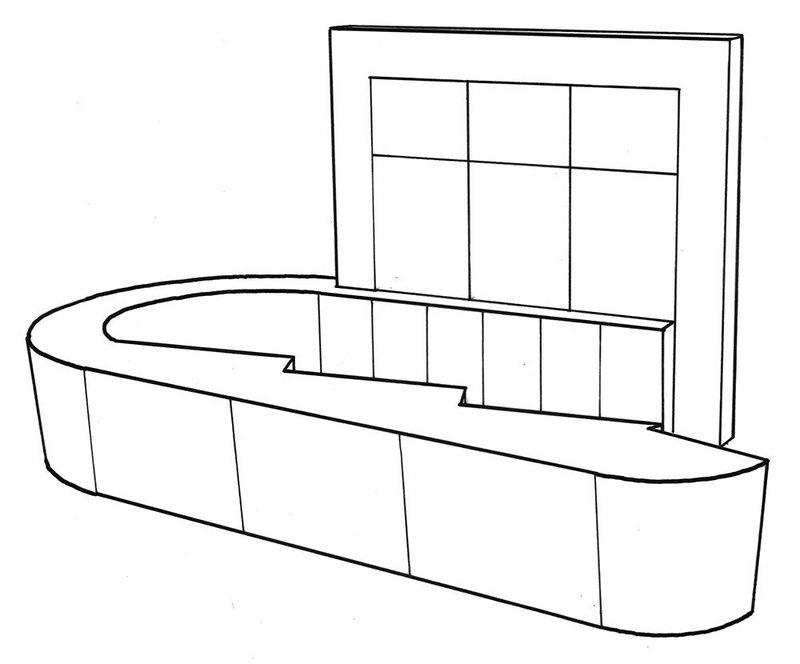 Terrazzo reception desk