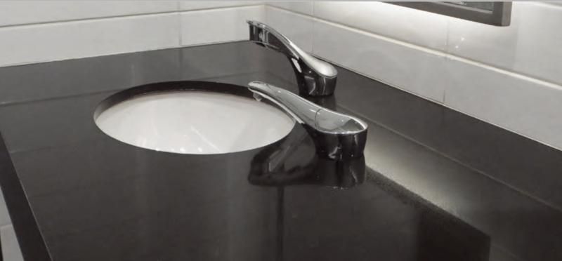 The Bobrick B-824 SureFlo easy-to-use automatic liquid soap dispenser minimises cross contamination.
