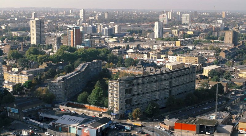 Once the future of social housing: Robin Hood Gardens estate, designed by Alison and Peter Smithson in the late sixties.