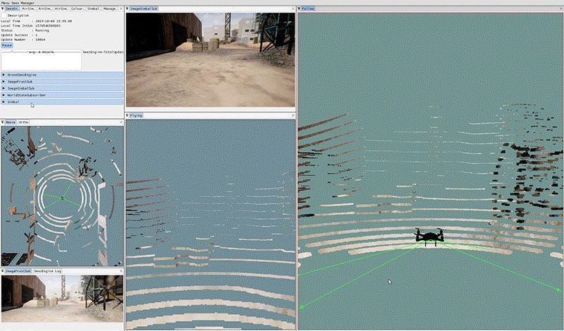 A remote flight around a construction site previously carried out by Sees.ai.