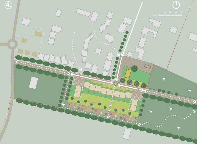 Cambridgeshire site feasibility study for appropriate housing by Cullinan Studio.