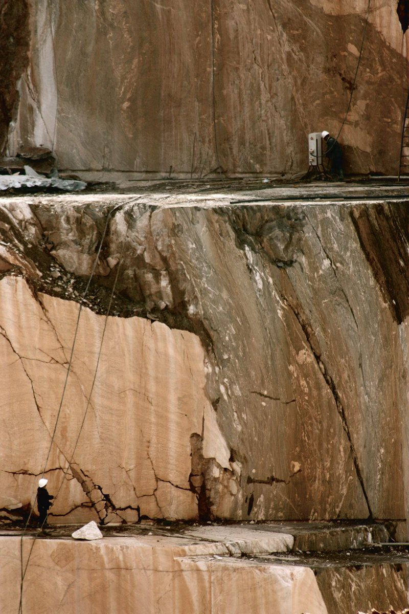 Deep working marble quarry in Estremoz, Aletejo Portugal.