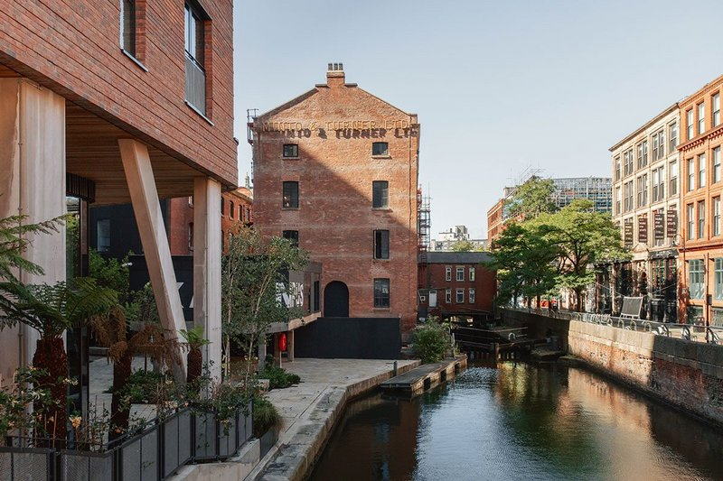 The £250 million Kampus development occupies a highly desirable site beside the Rochdale Canal in the centre of Manchester's 'Gay Village' nightlife district.