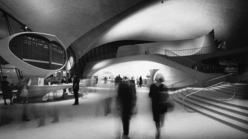 Eero Saarinen TWA terminal JFK airport New York .