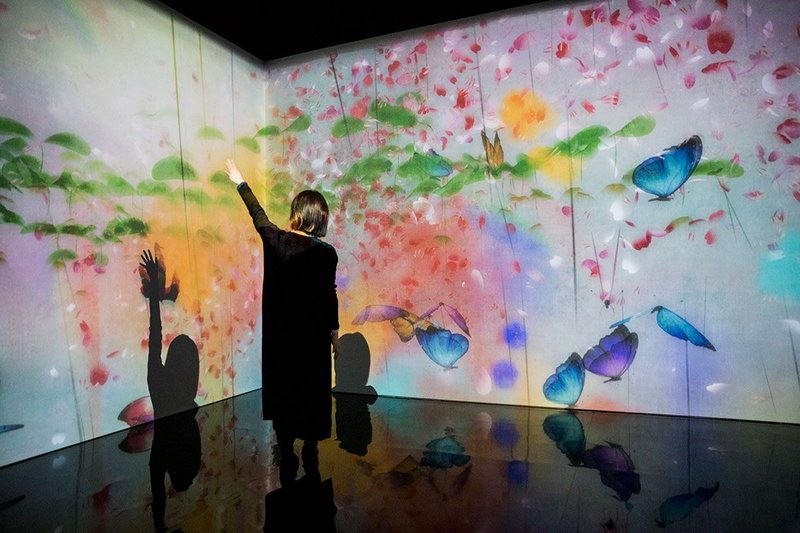 What a Loving and Beautiful World: teamLab from AI: More than Human, Barbican Centre, until August 26, 2019. Credit Tristan Fewings/Getty Images