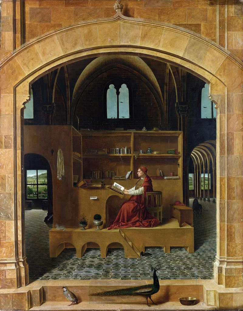 St Jerome in his Study, Antonello da Messina, c1475 – the starting point for this year's competition.
