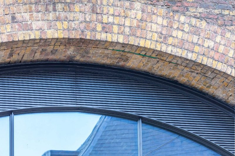 Renson UK ventilation louvres at an office in Borough Market, London.