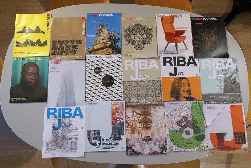 Evolution of the RIBAJ over 14 years on the Pearman kitchen table. Credit Hugh Pearman