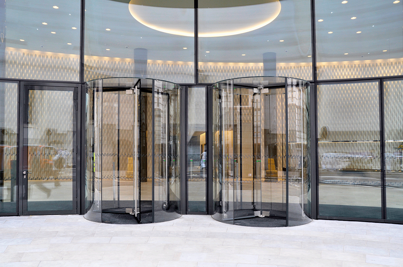 Boon Edam has been constructing revolving doors since 1903. Here is its latest all-glass Crystal Tourniket.