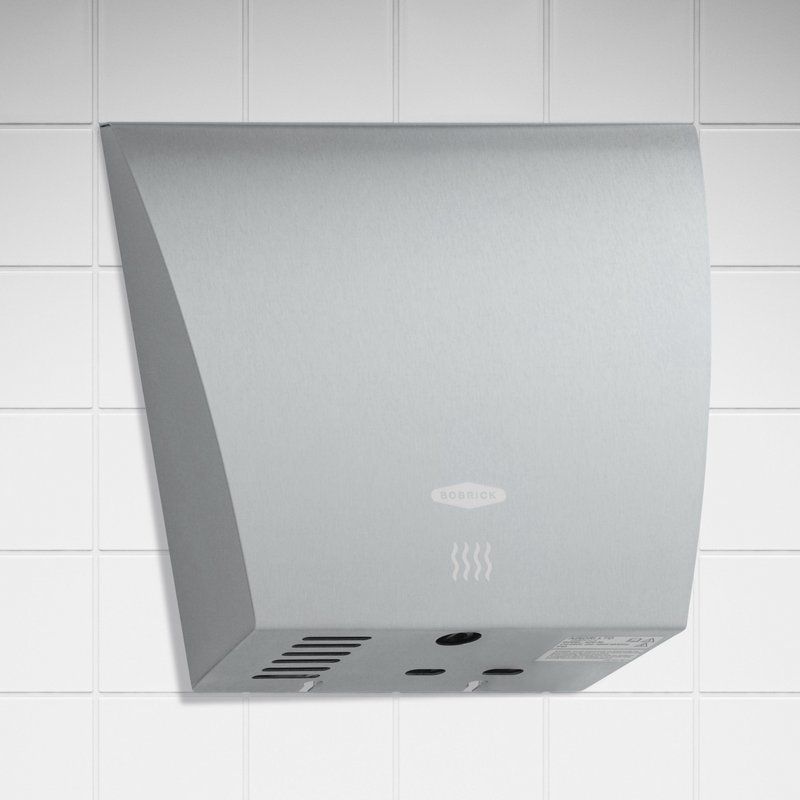 Bobrick's B-7125 InstaDry hand dryer has a dry time of less than 12 seconds.