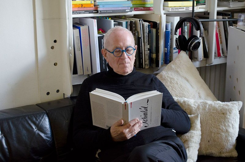 Peter Cook reading Kurt W Forster's recent biography of Schinkel.