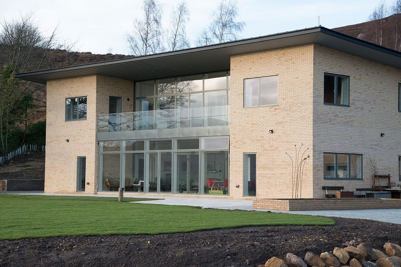 The Ecclestoun new-build in Rothbury, Northumberland, features Velfac window walls on upper and lower floors.