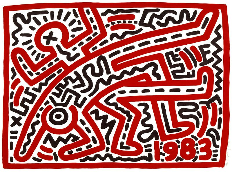 Keith Haring, 1958–1990, Untitled 1983. Collection of the Keith Haring Foundation © Haring Foundation
