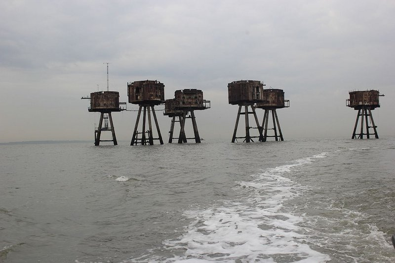 Maunsell Sea Forts, built in the Second World War to defend the Thames Estuary.