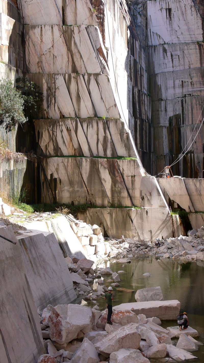 Abandoned quarry in Estremoz Aletejo Portugal.