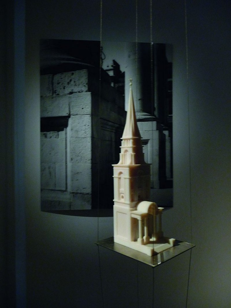 Beautiful display of Hawksmoor's London churches, curated by Mohsen Mostafavi.