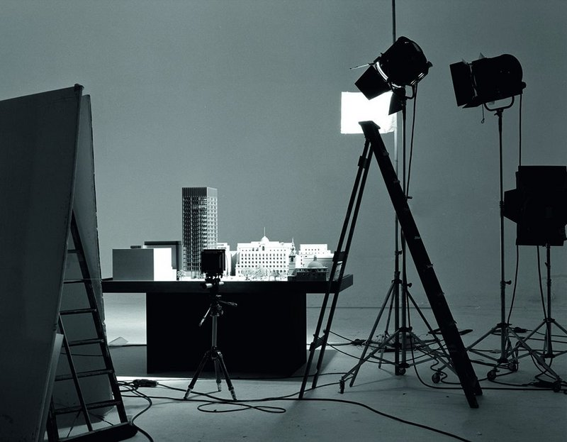 All set up in photographer John Donat's studio in 1981, the Mansion House Square model.