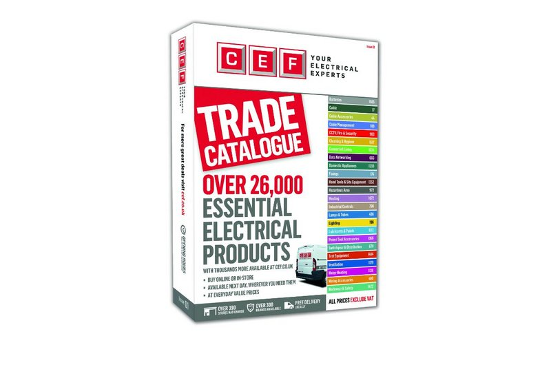 The CEF catalogue will be available to order online or collect in any CEF store from 7 May.