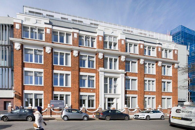 RCKa's Arklow Rd project in Lewisham. A 1920s former commercial block, Astra House, saved for 30 microflats for client Pocket Living.