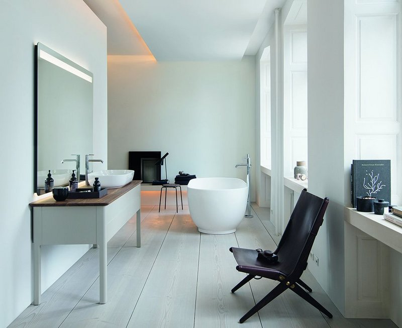 Danish designer Cecilie Manz's Luv bathroom collection for Duravit.